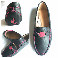 LADIES RALPH LAUREN CARLEY LEATHER LOAFERS - SIZE 4.5 UK (37 EUR)