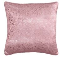 "SET OF 2  PALE BLUSH PINK SILVER GLITTER SPARKLES 18"" CUSHION COVER £9.99 SET"