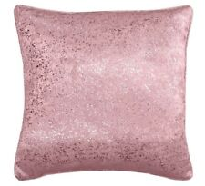 "2 X  PALE BLUSH PINK SILVER GLITTERY SPARKLES 18"" CUSHION COVER £10.99 UK SELLER"