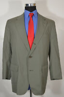 Vintage Brooks Brothers 40R Sport Coat Blazer Suit Jacket Gray-Green USA