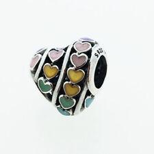 GENUINE PANDORA Multi Coloured Hearts Charm 797019ENMX FREE DELIVERY
