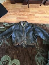 Type A2 Distressed Leather Jacket Size Large Avirex