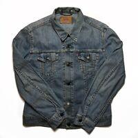 Womens Vintage Levis Denim Jacket Small Blue Button Up.