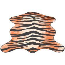 Vintage Natural Tiger Print Shaped Animal Rug 70x110 Cm Mat Carpet Home Decor