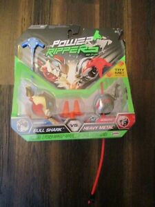 New JAKKS Power Rippers Series 1 Double Pack Bull Shark vs Heavy Metal RARE