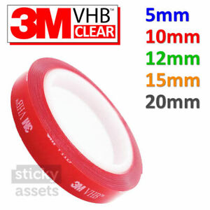 3M VHB DOUBLE SIDED TAPE ADHESIVE ROLL Clear Strong Heavy Duty Mounting Tape