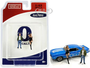 70S STYLE TWO FIGURINES SET I FOR 1/43 SCALE MODELS BY AMERICAN DIORAMA 38351