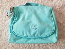 Kipling Kichirou Insulated Lunch Bag Fresh Teal Aqua Blue Monkey Keychain NWT