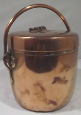 Antique Arts & Crafts Small Copper Lidded Cooking Pot Ice Bucket