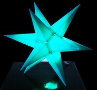 LED Mini-Stern innen türkis klein Adventsstern Weihnachtsstern Stern Leuchtstern