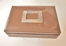 Vintage Mens Jewelry Box by Swank, Skandinaviska Etuifabriken Malmo ''By appoint