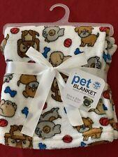 "Adorable Pet Blanket 30""x 30"" Super Plush Fleece New Brooklyn Pet Gear"