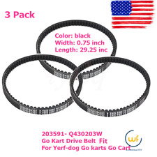 New 3 Pack Go Kart Drive Belt Fit for Yerf-dog Go karts Go Cart Usa