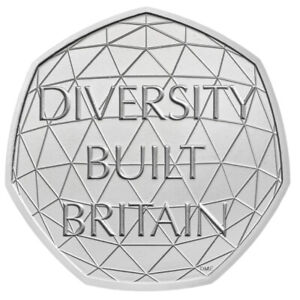 50p Diversity Built Britain 2020, Uncirculated, From Sealed Bag, New 50p Coin