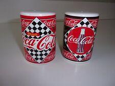 Coca Cola Ceramic Retro Diner Salt and Pepper Set Enesco 1995