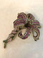 HEIDI DAUS Pink LOVELY LILY Flower Pin Brooch