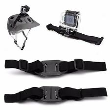 Universal Vented Strap Helmet Mount Adapter For Sport Camera HD Gopro Hero 1 2 3