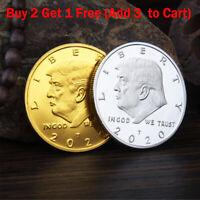 2020 President Donald Trump 24k Gold Plated EAGLE Commemorative Coin Republican