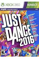 Just Dance 2016 Xbox 360 DISC ONLY Kids Kinect Game Dancing Active Workout