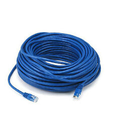 100FT Blue Cat5e 350MHz UTP RJ45 Ethernet Bare Copper Network Cable
