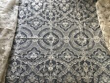 Vintage handmade Needle Lace table banquet cloth