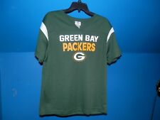 899dec71f GREEN BAY PACKERS GREEN YOUTH SHORT SLEEVE SHIRT POLY MED NWT NFL AUTHENTIC