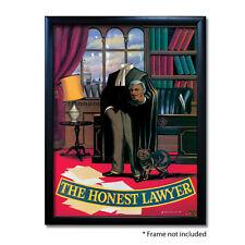 HONEST LAWYER PUB SIGN POSTER PRINT | Home Bar | Man Cave | Pub Memorabilia