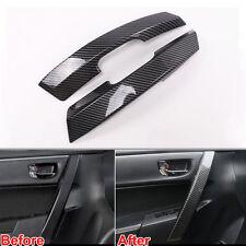 2pcs Carbon Fiber Style Interior Door Side Handle Cover Trim For Corolla 2014-17