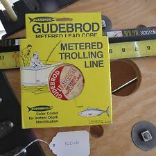 Vintage Gudebrod Lead core fishing line 2 spools of 100 yes 27lb test (Lt#10016)
