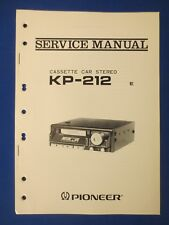 Pioneer KP-212 Cassette Service Manual Factory Original The Real Thing  v2