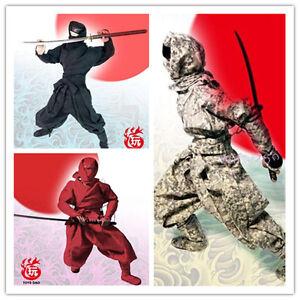 "1/6 Japanese Samurai Ninja Male Red Black Camo Full Sets Clothing For 12"" Figure"