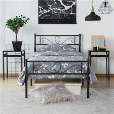 Metallbett Bettgestell Einzelbett Doppelbett Bett mit Lattenrost Metall Gästebet