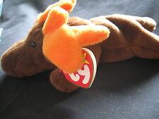 1993 Rare Original Chocolate the Moose Ty Beanie Baby P.V.C. Pellets Tag Errors