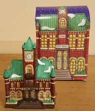 """Dept 56 Heritage Village Christmas in the city Ornament Series """"City Hall"""" Nib"""