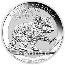 Australia 2016 Koala Bear Walking Eucalyptus Tree Branch $1 Pure Silver Dollar
