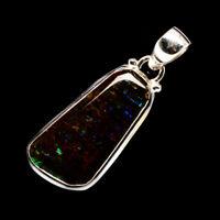 "Ammolite 925 Sterling Silver Pendant 1 1/2"" Ana Co Jewelry P718270F"