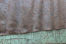 Lederhaut, Geprägter Rindspaltvelours bedruckt, Gallipoli Moro / Braun 1,46 m²