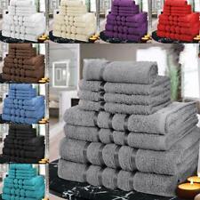 NEW LUXURY PURE EGYPTIAN 8PC PIECE 100% COTTON TOWEL SET FACE HAND BATH TOWELS