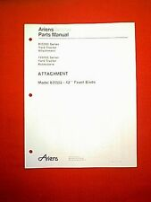 """ARIENS 835000 SERIES TRACTOR MODEL 835002 42"""" SNOW PLOW  ATTACHMENT PARTS MANUAL"""
