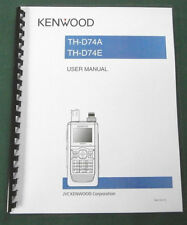 Kenwood TH-D74A/E Instruction Manual: Full Color & Premium Card Stock Covers!