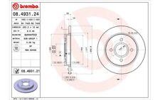 1x BREMBO Disco de Freno Trasero Pleno 253mm Para FORD FOCUS SIERRA 08.4931.21