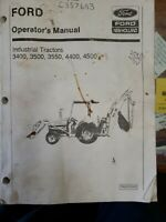3400 3500 3550 4400 4500 Operators Lubrication Maintenance Book Ford New Holland