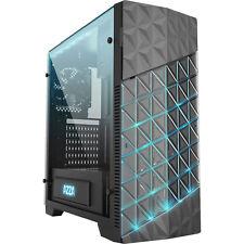 AZZA Onyx 260-schwarz-2x 120mm FAN-Sichtfenster Echtglas-RGB-PC Gehäuse