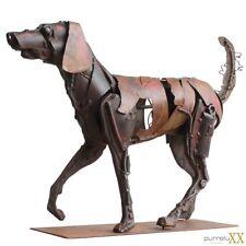 XXL- LUXUS Skulptur Metall Hund Gilde ca. 48x37 cm Ausstellungsstück / NP 369,-