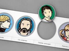 JULIAN OPIE: Portraits, 2007 Set of 6 Art Magnets Shahnoza, Jack, Kate, Luc NIP!