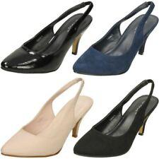 Stiletto Satin Slingbacks Standard Width (D) Heels for Women