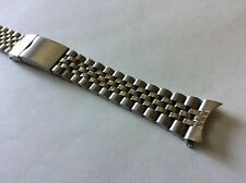 Cinturino in acciaio tipo Jubilee ansa curva 20mm steel watch band strap