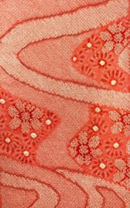 Vintage Japanese SILK Kimono SHIBORI Fabric Panel  #S5