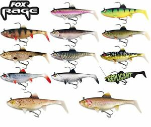 FOX RAGE WOBBLE REPLICANT SUPER NATURAL SOFT LURES ALL SIZES IN STOCK