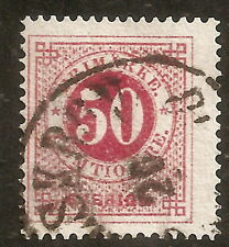 Suède: Yvert N° 24 (1872-85) perf 14 used,very fine, cat val 45€